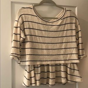 Anthropologie sweater tee